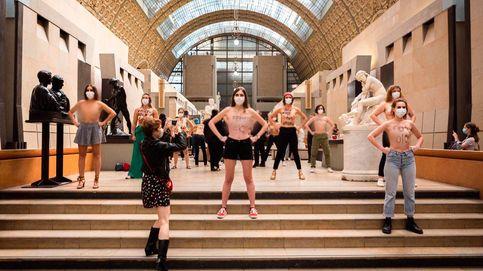 Protestan desnudas en el Museo de Orsay tras el veto al escote de una mujer