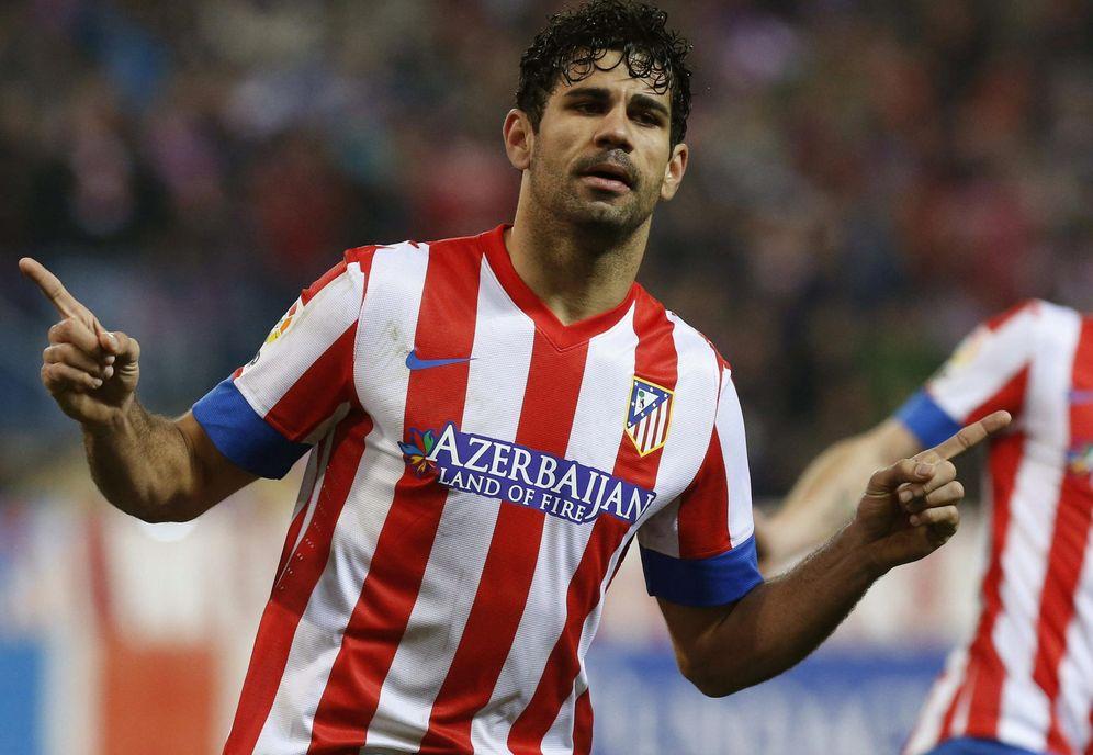 Foto: Diego Costa celebra un gol marcado con la camiseta del Atlético de Madrid. (EFE)