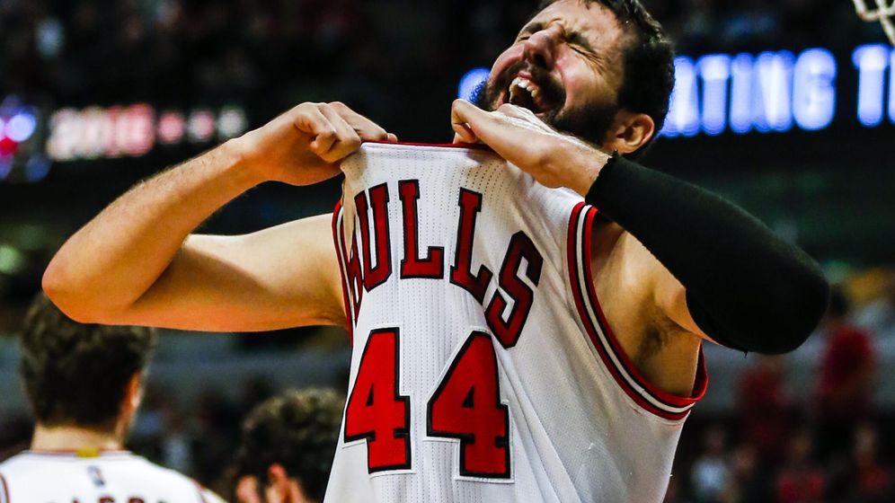 Foto: Nikola MIrotic no fue suficiente para dar la victoria a los Bulls (Efe).