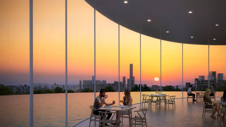 La estructura cónica central alberga espacios de ocio. (Sou Fujimoto Architects)