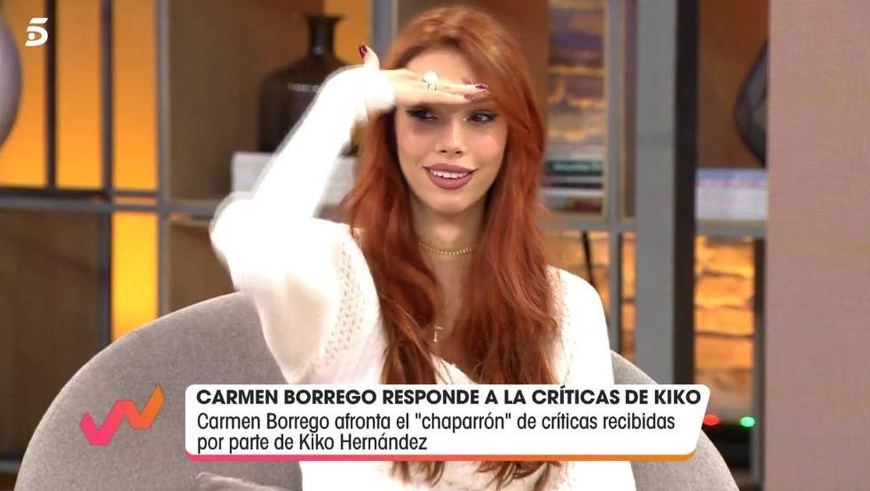 Alejandra Rubio hablando sobre Kiko Hernández. (Telecinco).