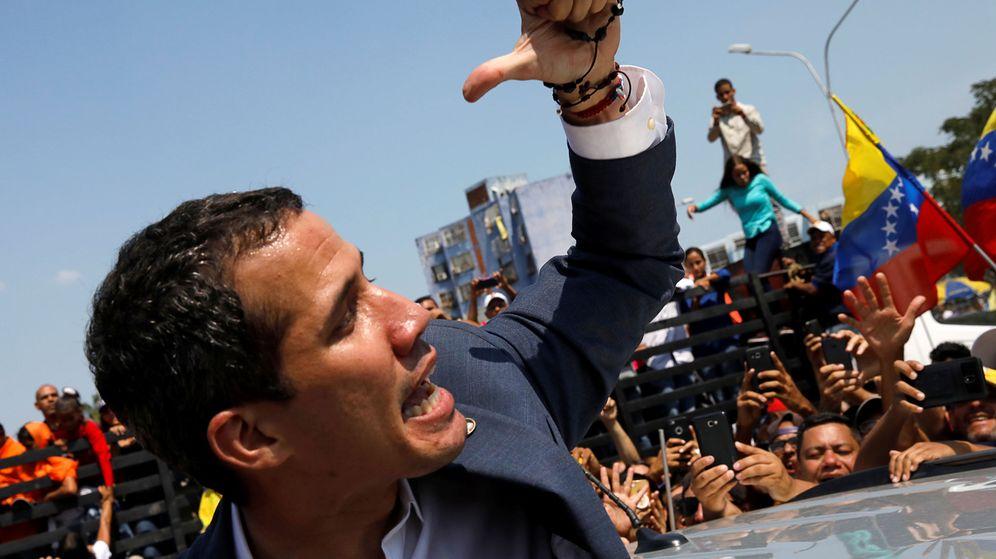 Foto: El líder de la Asamblea Nacional venezolana, Juan Guaidó, durante una protesta contra Maduro en Guacara. (Reuters)