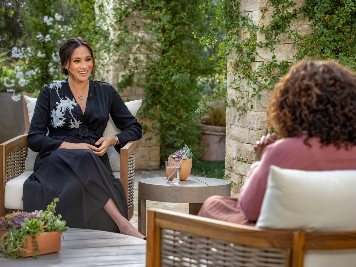 Foto: Meghan, durante la entrevista con Oprah Winfrey. (Reuters)