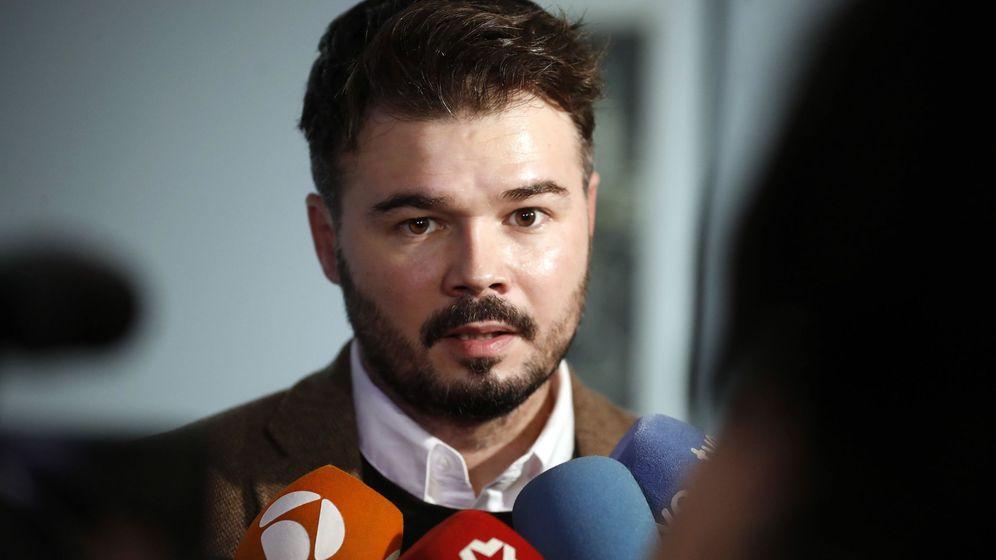 Foto: El portavoz de ERC Gabriel Rufián. (EFE)