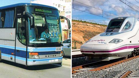 Los viajeros de bus se hunden a mínimo en 10 años ante el récord histórico del tren