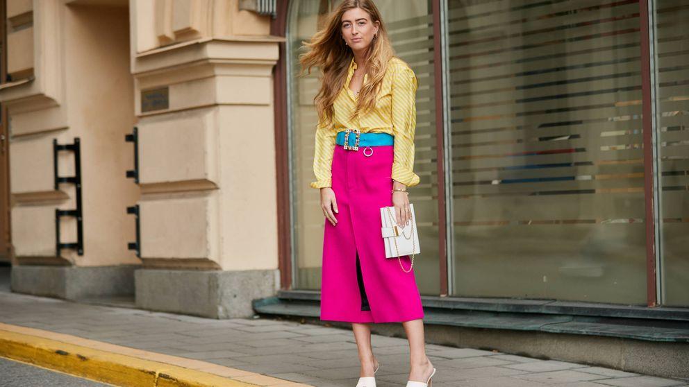 Con estas 16 faldas midi puedes ir a trabajar y saltar después a una boda