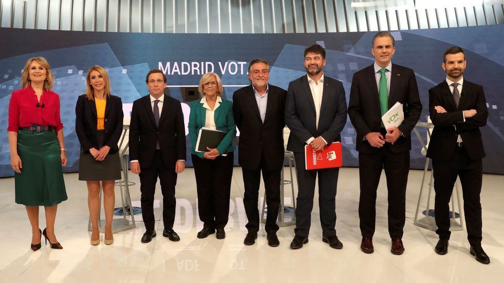 Foto: Debate de candidatos al ayuntamiento de madrid en telemadrid