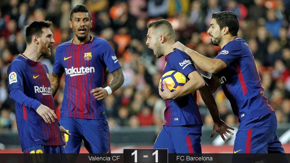 Un error garrafal. Solo la 'ceguera' arbitral frenó al Barcelona en Valencia
