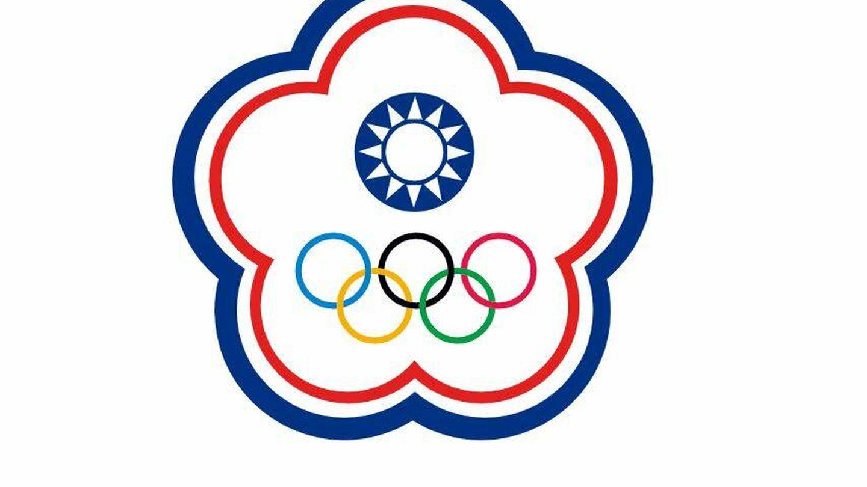 Bandera olímpica del Comité de China Taipéi.