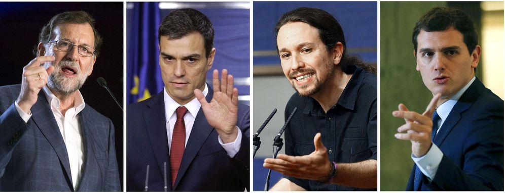 Foto: Mariano Rajoy, Pedro Sánchez, Pablo Iglesias y Albert Rivera. (EFE)