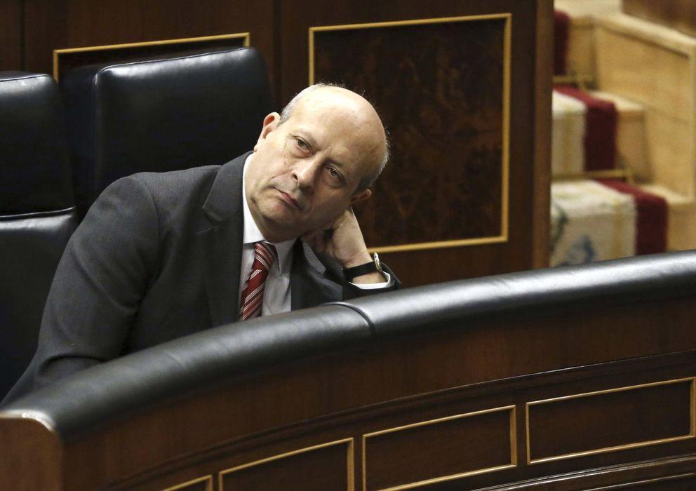 Foto: El ministro de Educación, José Ignacio Wert (EFE)