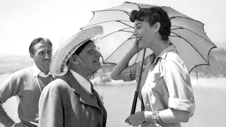 Ava Gardner y el director de la película, Albert Lewin. (CP)