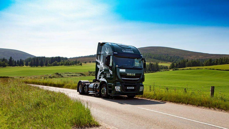 Foto: Los camiones de Glenfiddich funcionan con güisqui. (Glenfiddich)