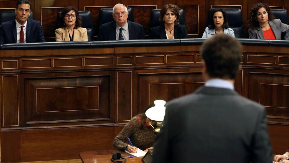 Casado pide a Cs que presente una moción contra Torra y reta a Sánchez a apoyarla