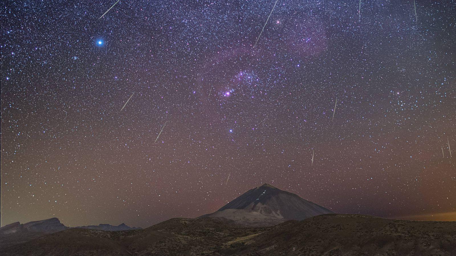 Foto: Imágenes de la lluvia de estrellas conocida como las Gemínidas. (IAC)