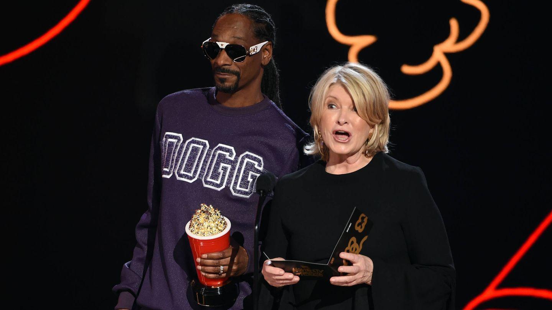 Snoop Dogg y Martha Stewart en los premios MTV. (Getty)