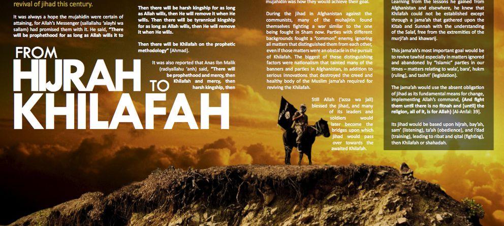 Foto: Una de las páginas de 'Dabiq', la revista del grupo yihadista Estado Islámico.