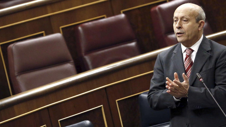 José Ignacio Wert interviene en el Congreso de los Diputados (Efe)