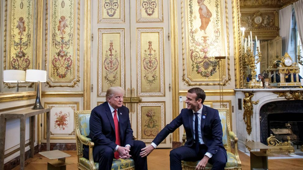 Bronca entre Trump y Macron por la defensa de Europa