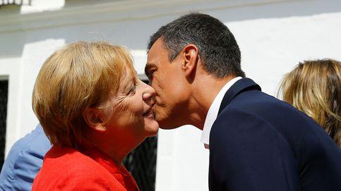 Merkel llega a Sanlúcar de Barrameda para reunirse con Sánchez