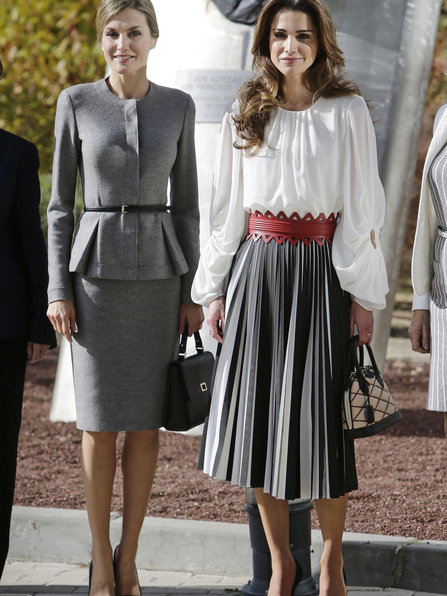 Letizia y Rania, en 2015. (Cordon Press)