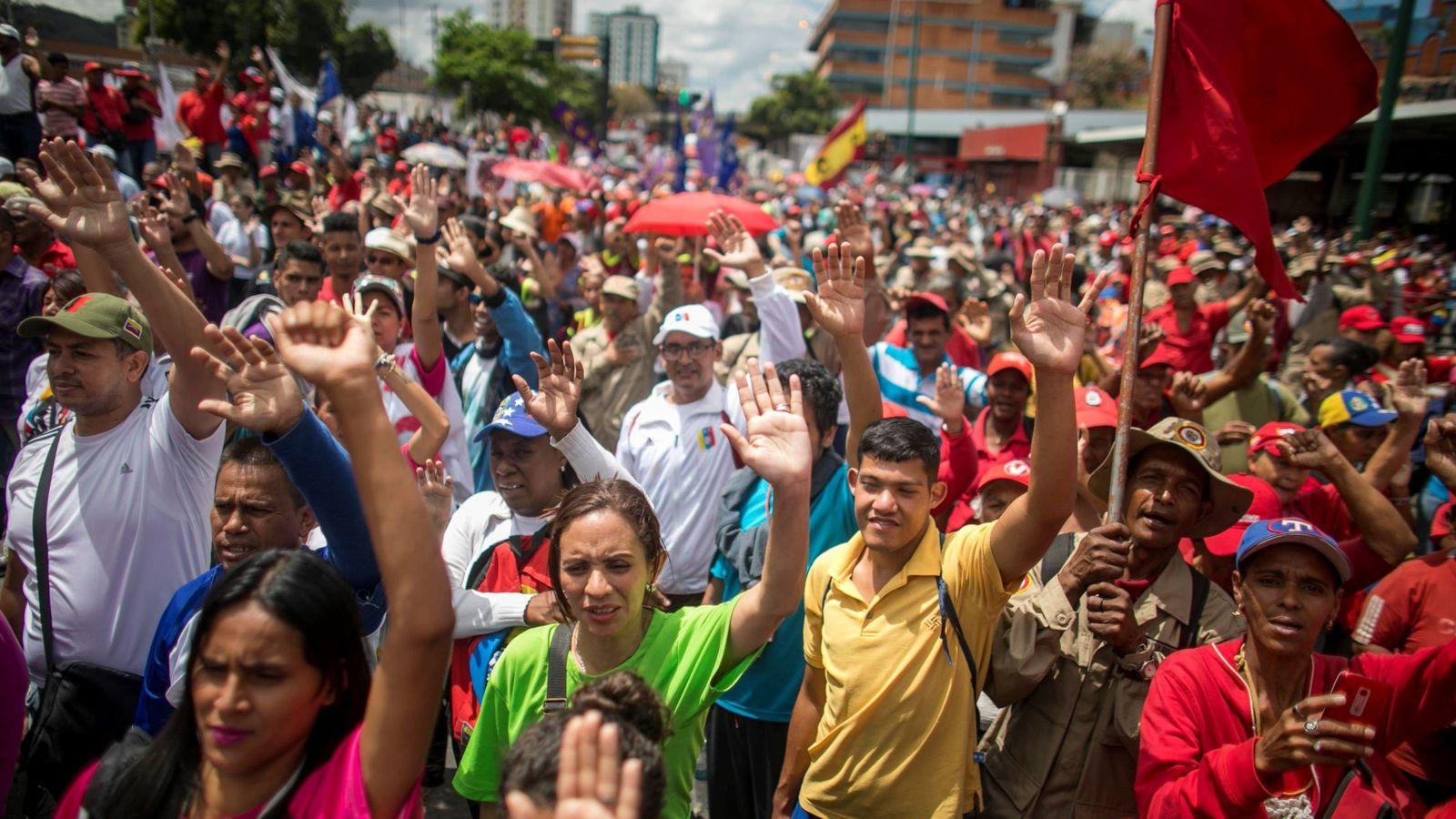 Foto: Movilización por el chavismo. (EFE)