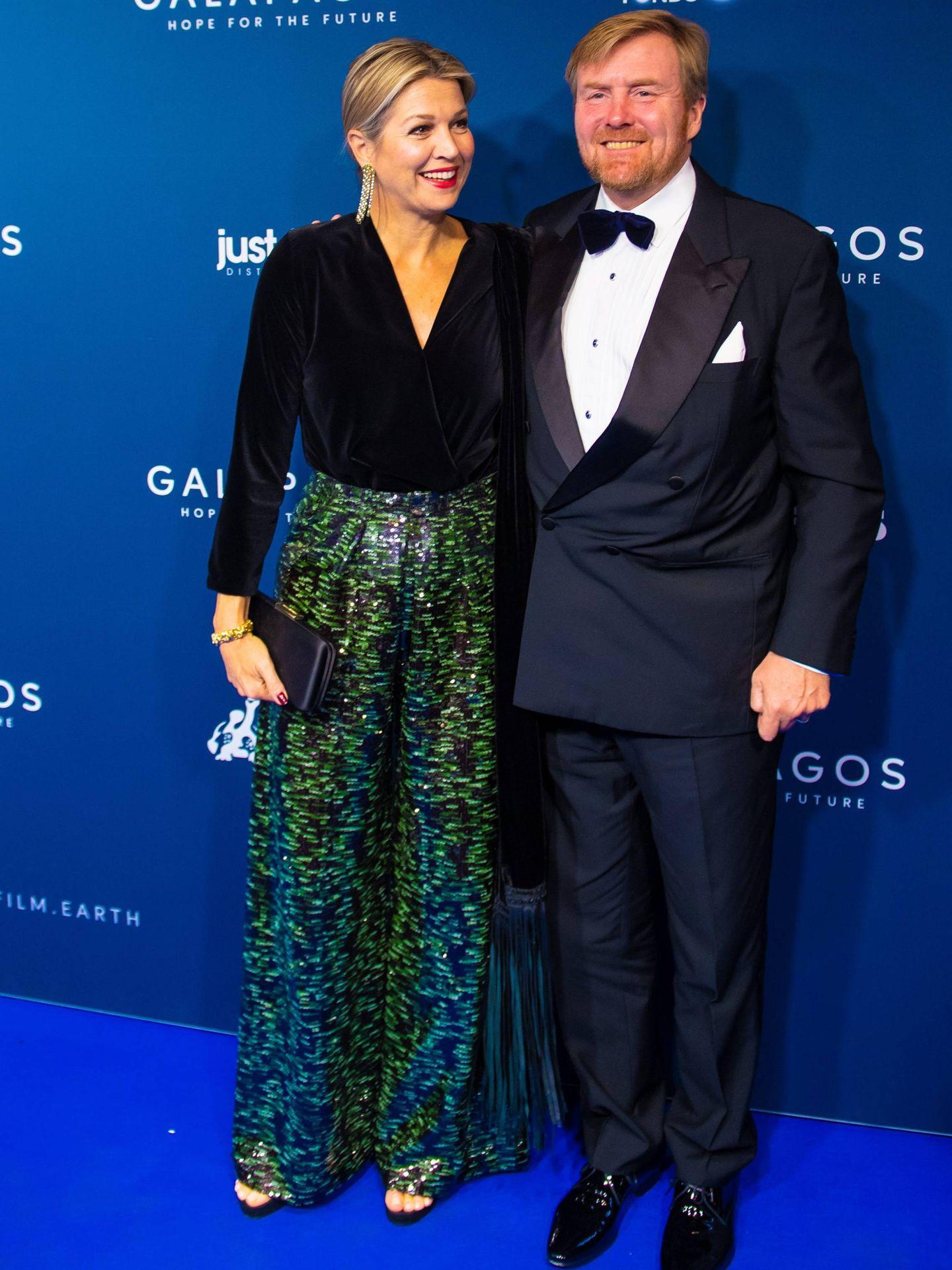 Guillermo y Máxima de Holanda, en la première de 'Galápagos'. (Cordon Press)