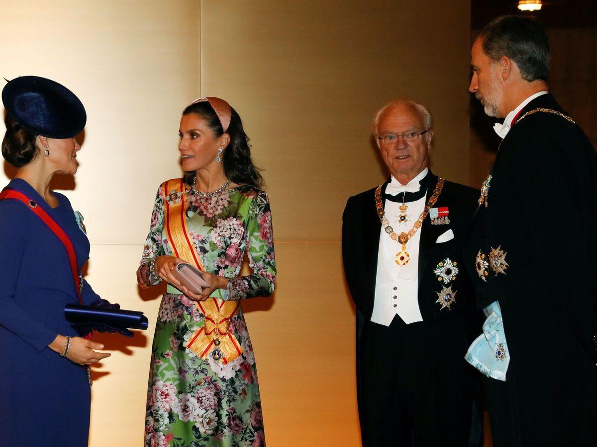 Foto: Letizia y Felipe VI junto al rey Gustavo de Suecia y a su hija Victoria, en una imagen de archivo. (EFE)