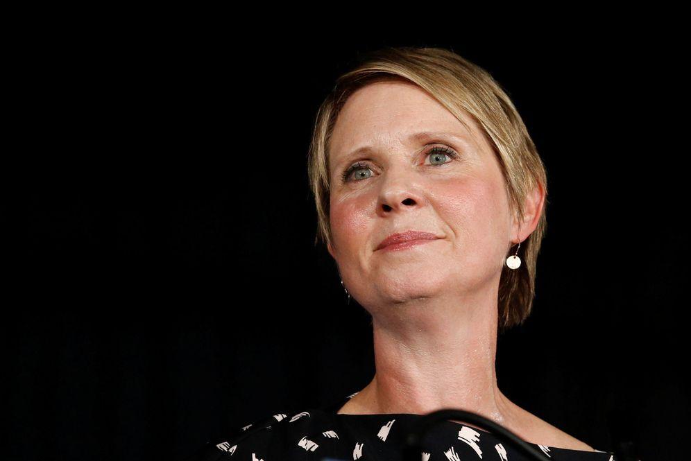 Foto: La actriz durante el discurso que dio tras conocer su derrota. (Reuters)