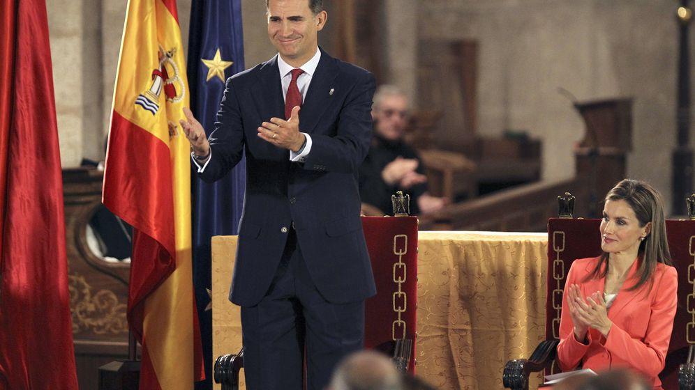 Foto: El Príncipe de Asturias hoy en el Monasterio de Leyre, en Navarra (Efe)
