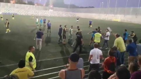 Polémica actuación policial en una pelea de fútbol