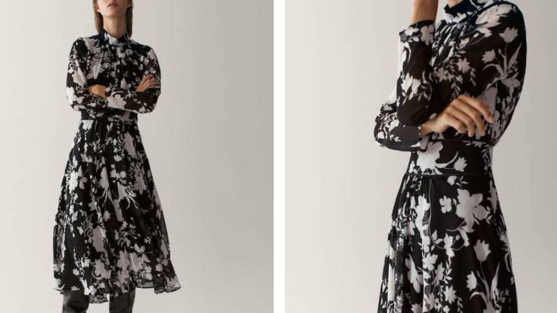 Vestido de flores de Massimo Dutti. (Cortesía)