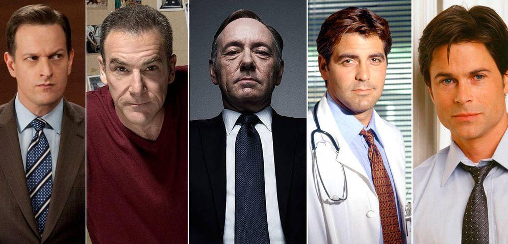 Foto: De Izquierda a derecha, Charles, Patinkin, Spacey, Clooney y Lowe.