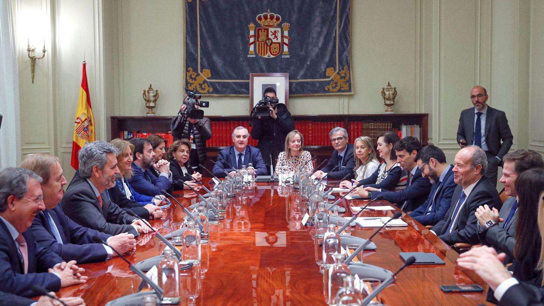 El ministro de Justicia, Juan Carlos Campo, en el pleno del Consejo General del Poder Judicial. (EFE)