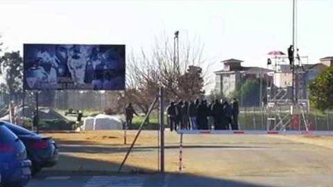 Los Biris irrumpen en el entrenamiento del Sevilla