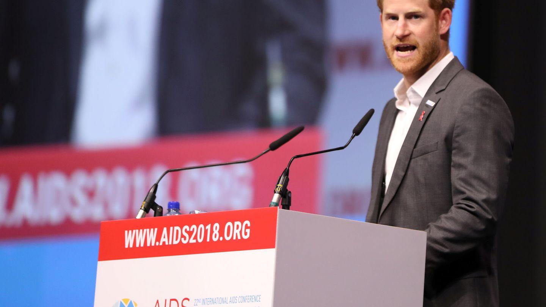 El príncipe Harry, en el Conferencia Mundial sobre Sida de 2018. (Reuters)