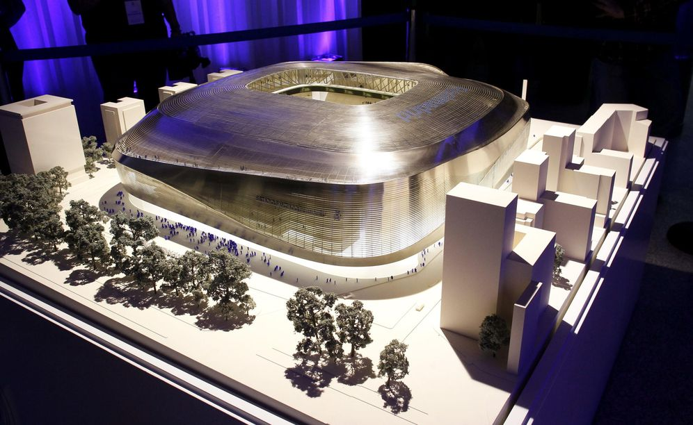Foto: Imagen del proyecto de la remodelación del Santiago Bernabéu. (EFE)