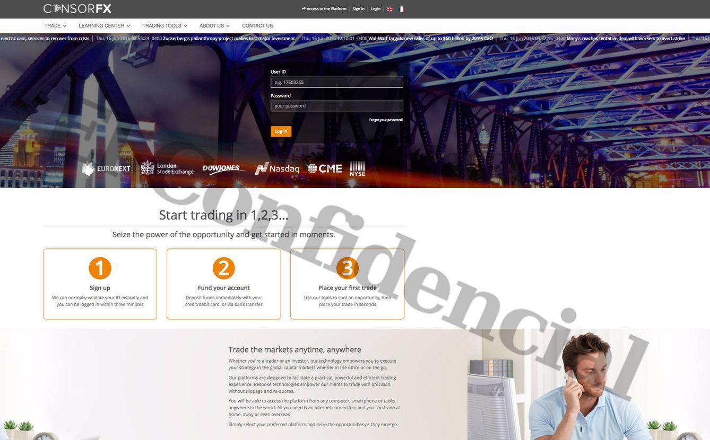 Foto:  Página de inicio de la empresa Consorfx. (EC)