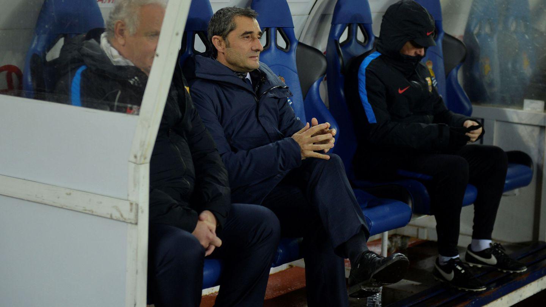 En Anoeta, el Barcelona de Valverde cerró invicto la primera vuelta: 16 victorias y tres empates. (Reuters)
