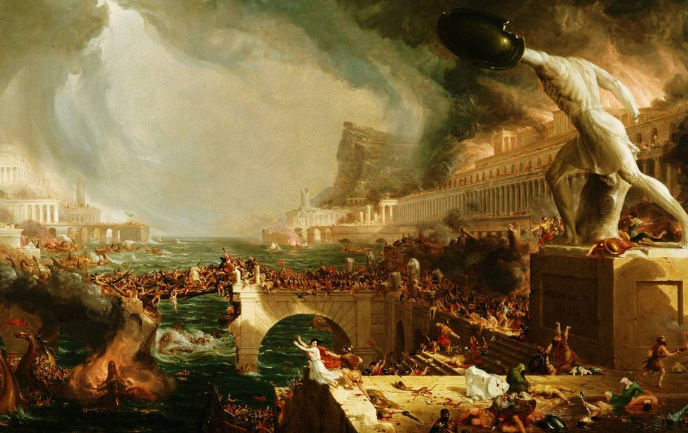 Foto: 'The Course of Empire - Destruction', por Thomas Cole (1836)