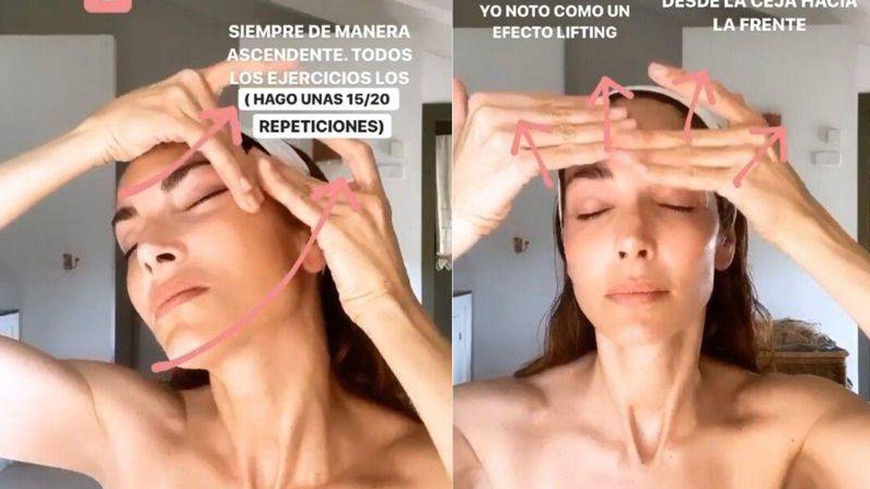 Rutina de yoga facial de Eugenia Silva. (Cortesía)