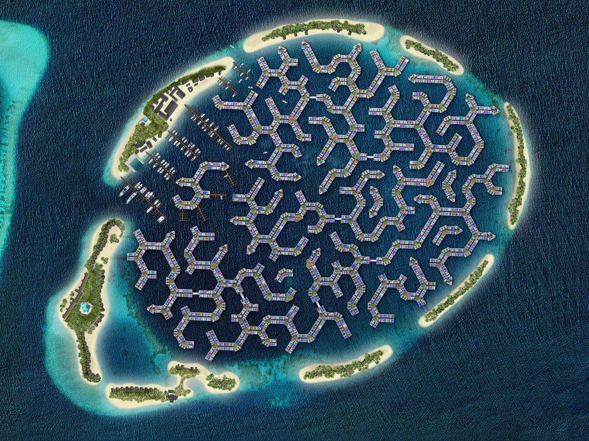 Foto: La propuesta de Maldives Floating City.