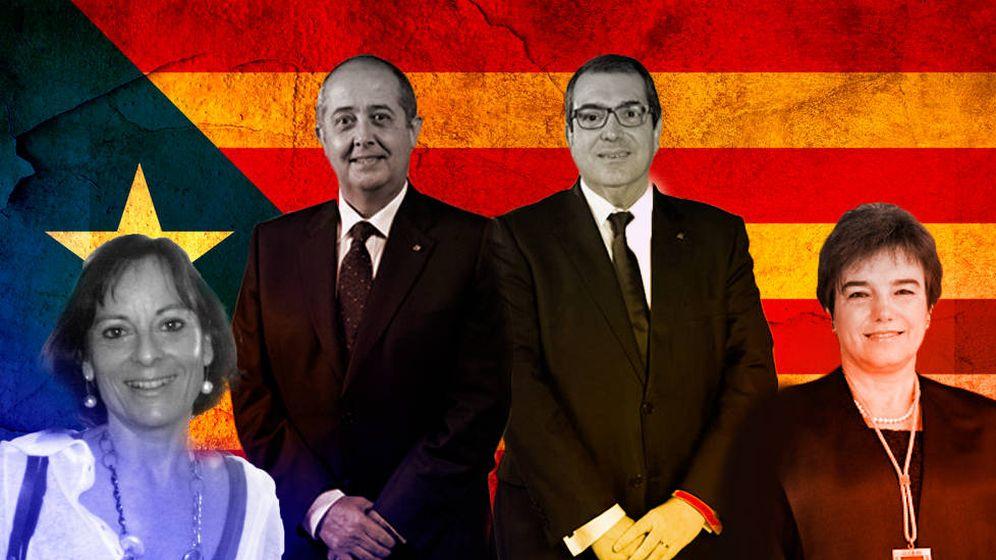 Foto: De izquierda a derecha: Josepa Ninou, Felip Puig, Jordi Jané y Margarida Gil. Fotomontaje: Carmen Castellón.