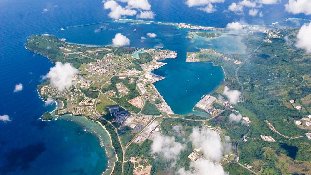 Foto: Vista aérea de la base naval de Estados Unidos en Guam. (Reuters)