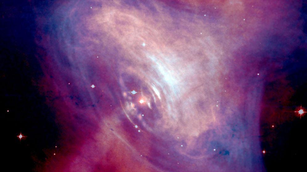 Foto: La emisión se ha detectado en el púlsar de la nebulosa del Cangrejo. (NASA)