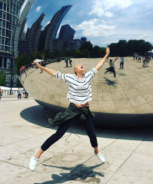 Foto: Sharapova, en Chicago (Facebook)