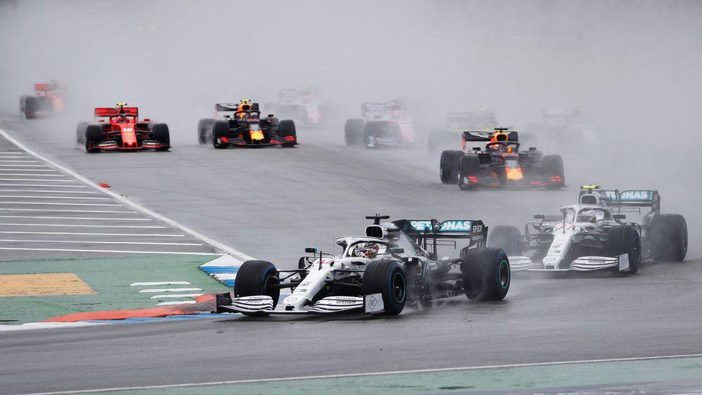 Foto: Lewis Hamilton lidera el Gran Premio de Alemania. (Reuters)