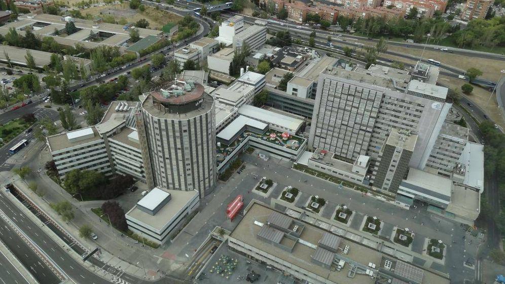 Foto: Vista aérea del hospital madrileño de La Paz. (EFE)
