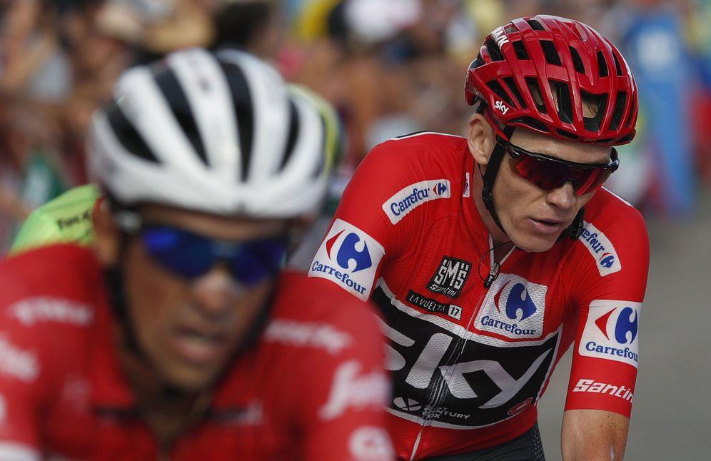 Foto: En la imagen, Alberto Contador y Chris Froome. (EFE)