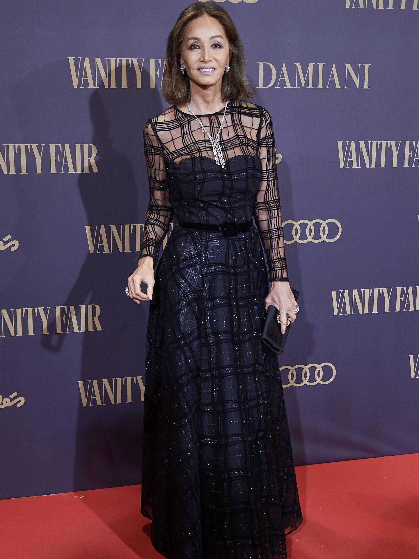Isabel, en los Premios Vanity Fair.